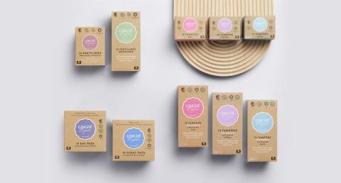 GingerOrganic product range