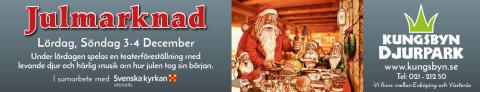 Julmarknad på Kungsbyn med levande julspel