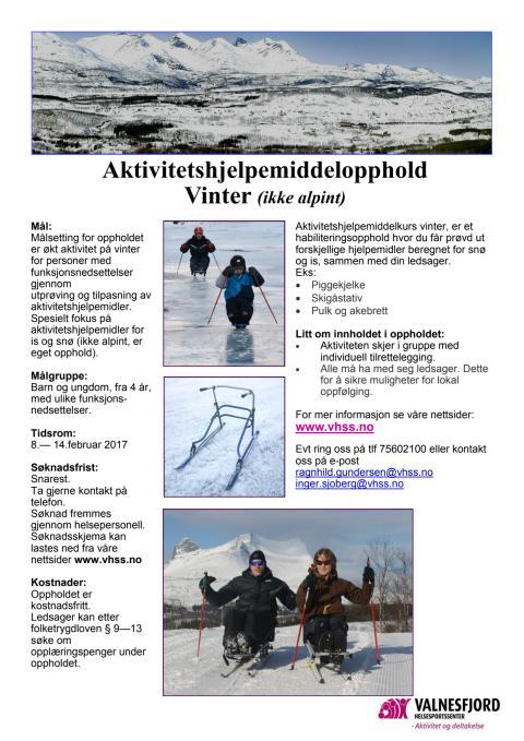 Aktivitetshjelpemidler vinter - pigging