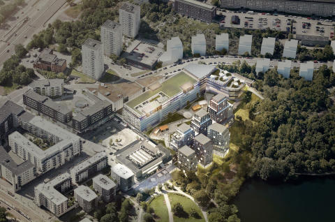 Wester+Elsner Liljeholmen Citycon flygvy vision