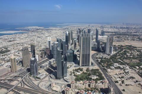 Dubai - Burj Kalifa från 124:e våningen