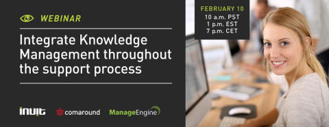 Integrate Knowledge Management throughout the support process
