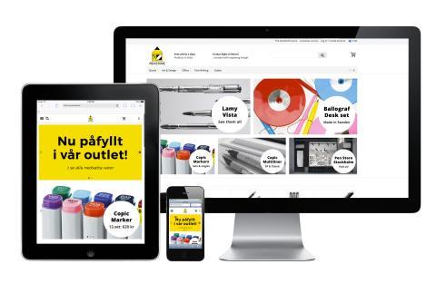 Carismar fixar sajt och lokaler åt Pen Store som nu kan växa på alla fronter