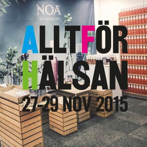 NOA Relaxation på Allt för Hälsan mässan nov 2015