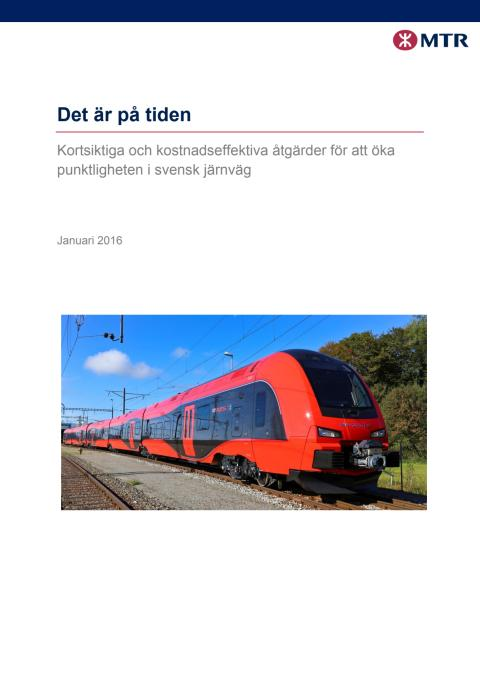 Små medel kan göra stor skillnad för Sveriges tågresenärer