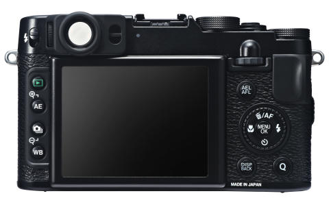 FUJIFILM X20 black back