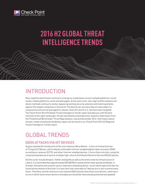 2016 H2 Global Threat Intelligence Trends