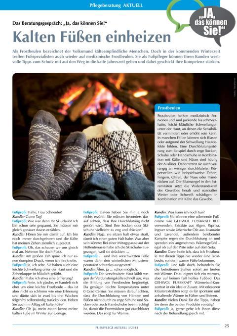 Das Beratungsgespräch: Kalten Füßen einheizen