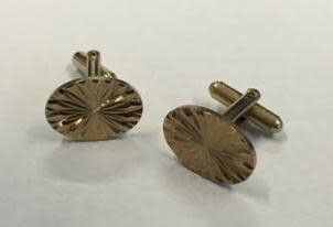Recovered floral cufflinks
