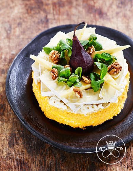 Smörgåstårta: fyra sorters ost