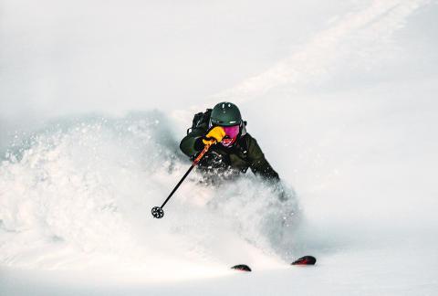 Bästa tänkbara start på 2020 med över en meter snö i Hemavan