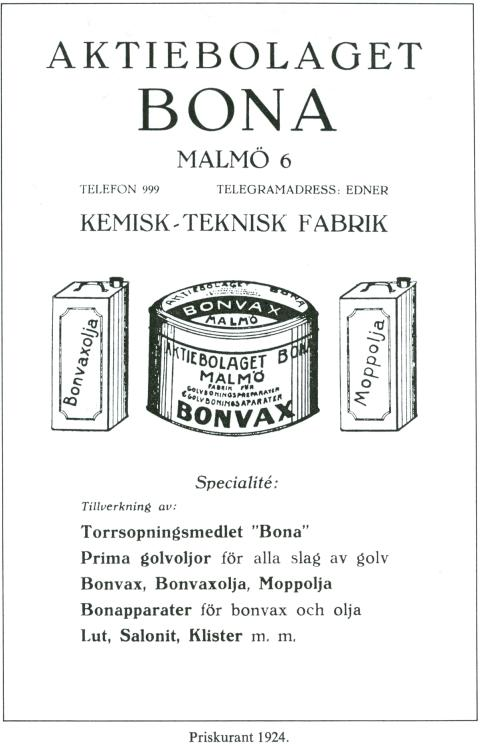 Bona priskurant 1924
