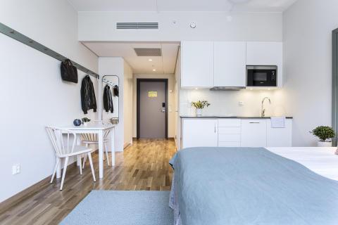 Five different types of rooms at Biz Apartment Hammarby Sjöstad