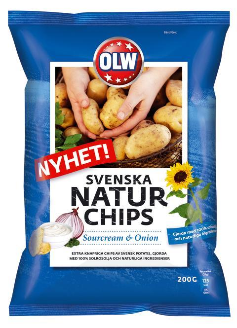 Svenska Naturchips Sourcream & Onion