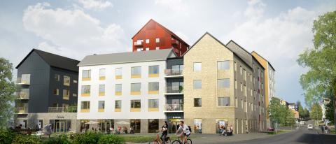 Byggstart av 110 lägenheter på kvarteret Tallen i Piteå