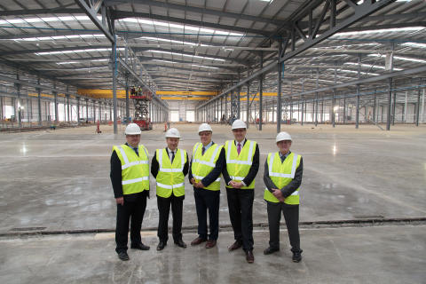 Hitachi Rail Europe Celebrates Topping Out of its Train Factory, Announces Establishment of UK Design Office in Newton Aycliffe