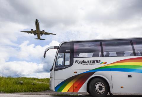 Flygbussarna med flygplan