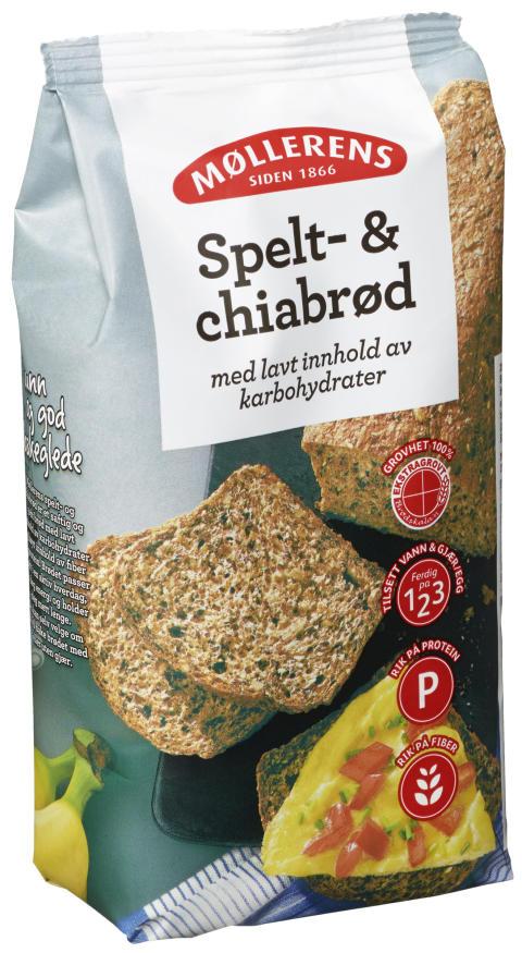 Spelt- & Chiabrød, 400g