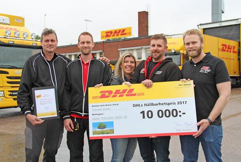 HP Åkeri fick hållbarhetspris av DHL