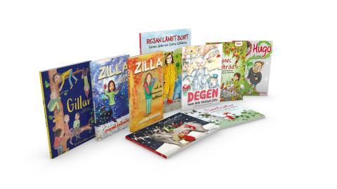 De nio böcker som ingår i klassboken