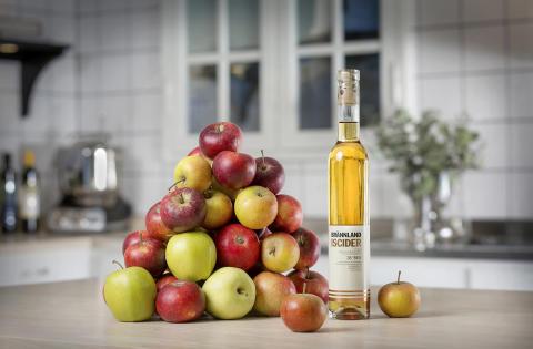 Hur många äpplen behövs till en flaska Brännland Iscider?
