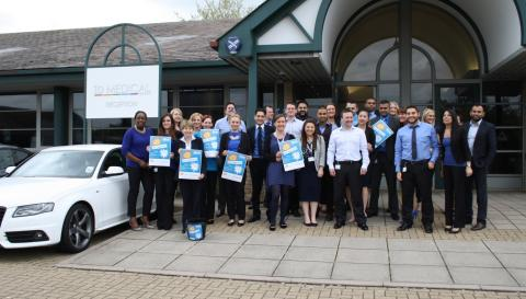 Leading Milton Keynes based healthcare recruiter ID Medical wears it blue for Leo's Appeal