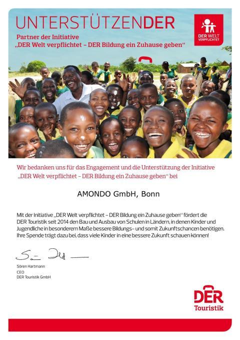 UnterstützenDER das sind wir gern - für mehr Bildung in der Welt