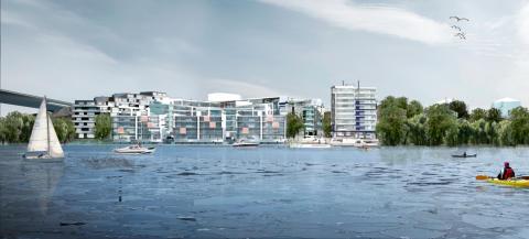 Byggstart för sjönära hyresrätter på Gröndal Strand