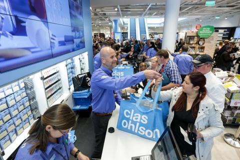 Clas Ohlson kasvatti eniten myyntiään Suomessa