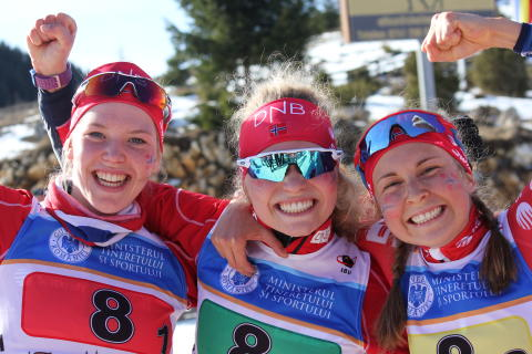 Gulljentene,stafett junior kvinner,junior-vm 2016