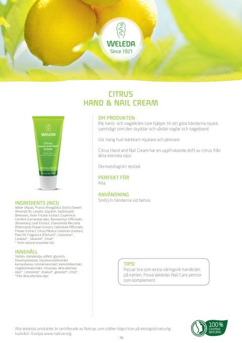 Citrus Hand & Nail Cream