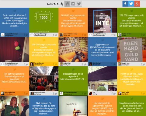 Hyresgästföreningen storsatsar i sociala medier tillsammans med Actionist