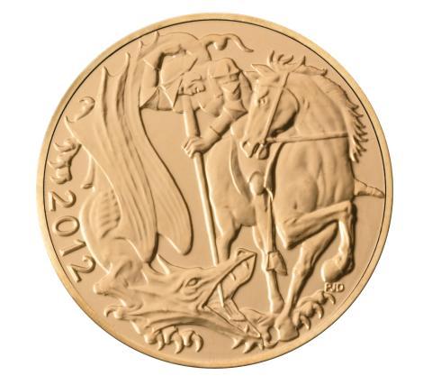 2012 Sovereign, gull, St. Georg og Dragen