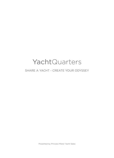 Princess 75 Motor Yacht A4 brochure