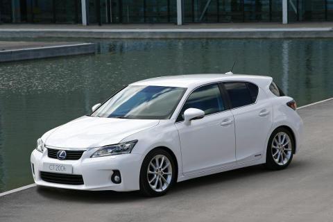 Rekordlåga utsläppsnivåer för Lexus CT 200h