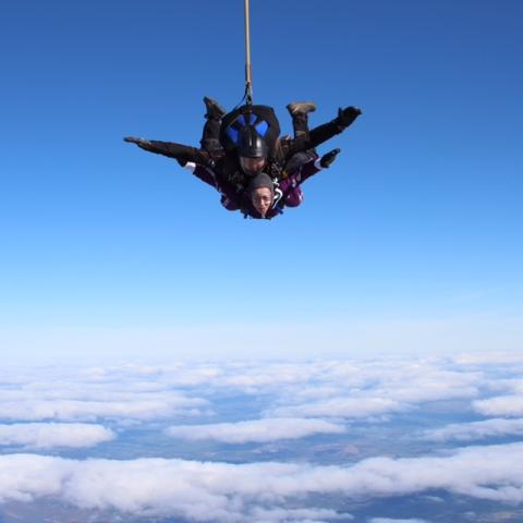​Wythenshawe woman completes 'two jumps' in memory of her dad