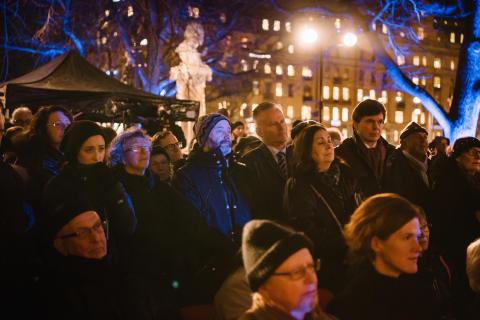 Manifestation på Förintelsens minnesdag 27 januari (2)