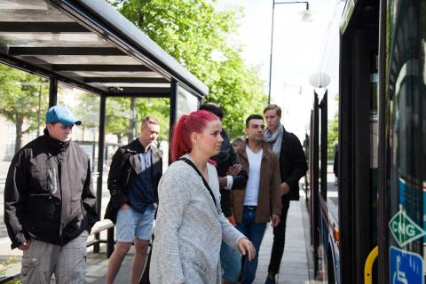 Invigning busslinje till Öster Mälarstrand