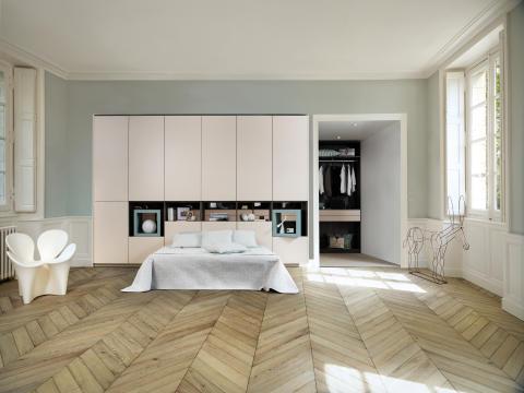 Schmidt living soveværelse og garderobeløsning