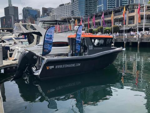 Power Equipment and BtB Marine display the OXE Diesel at Pacific 2019