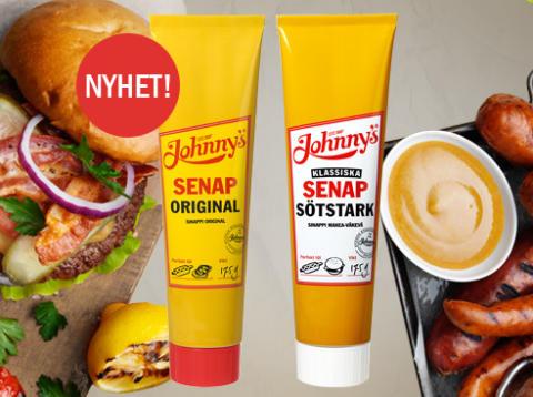 Johnny's® senap i ny smidig förpackning!