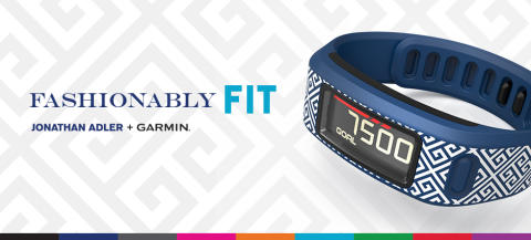 Jonathan Adler designar armband  till Garmin® vívofit aktivitetsmätare