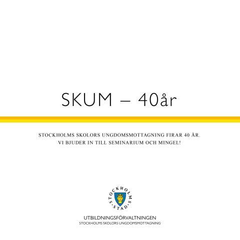 Program Stockholms skolors ungdomsmottagning 40 år