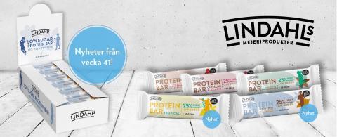 Lindahls low sugar proteinbars – två nya smaker snart i hälsohyllan!