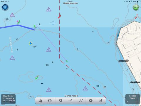 NavLink US with AIS targets