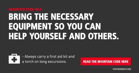 #Besafie campagne maakt gebruik van de negen regels uit de Noorse bergcode