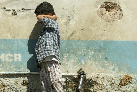 Lesbos: Ett av fyra barn i Morialägret har självskadebeteende