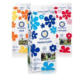 Skånemejerier byter till miljöcertifierade mjölkförpackningar