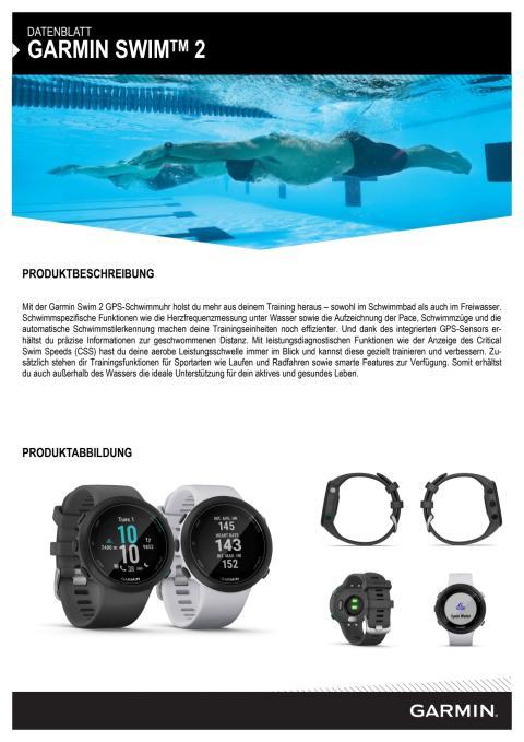Datenblatt Garmin Swim 2