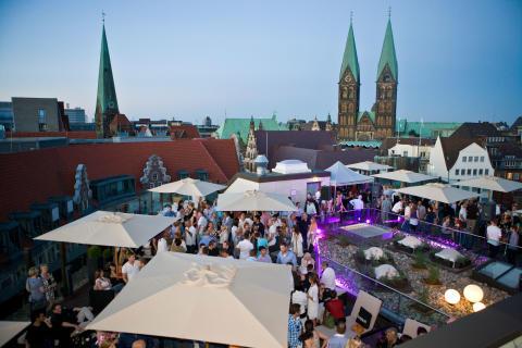 Bremen - Dachterrasse für Events im ATLANTIC Grand Hotel Bremen